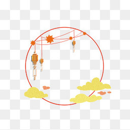 古风中秋节边框元素