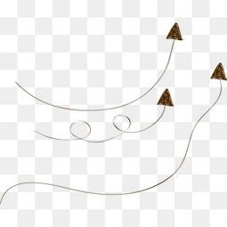 卡通手绘线条箭头