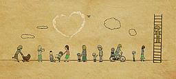 卡通手绘母情感恩节详情页海报背景