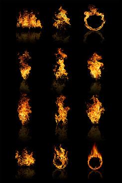 燃烧火焰梦幻火焰火焰素材