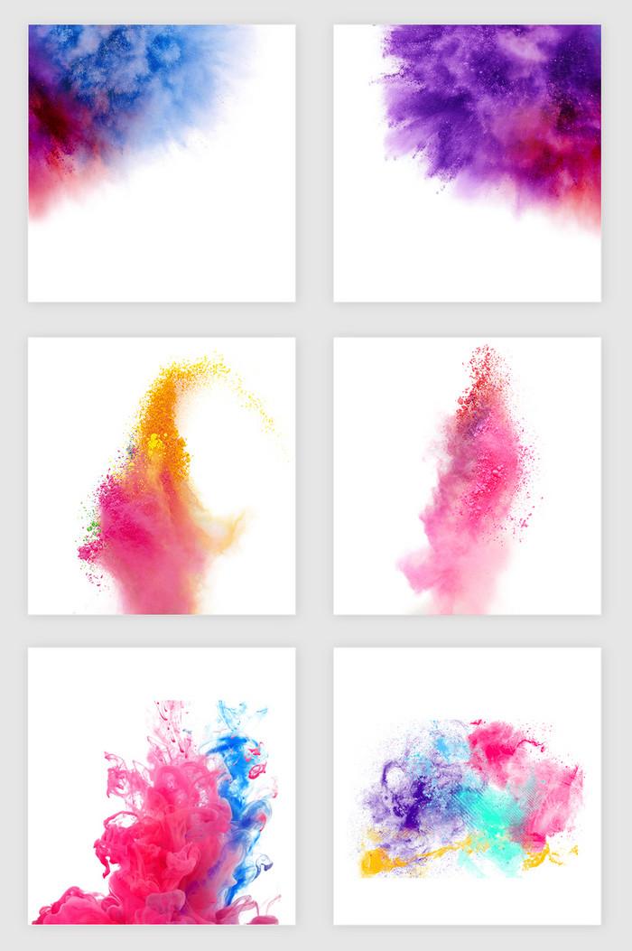 彩色烟雾 粉末素材