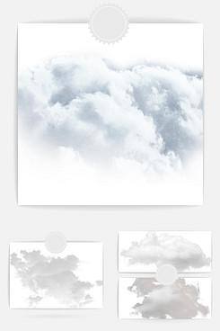 云朵设计素材元素
