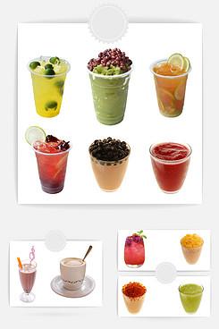 饮品素材矢量图 冷饮店素材