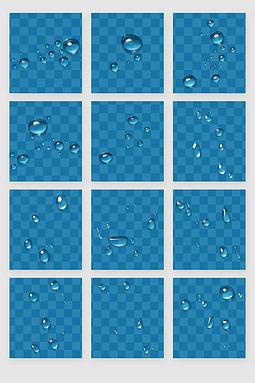 水滴露珠水珠雨水PSD分层素材