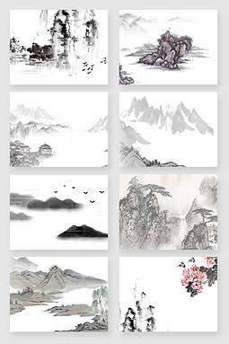 中国风古风国画水墨画素材