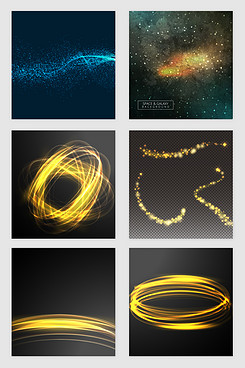 星空线条光效矢量素材