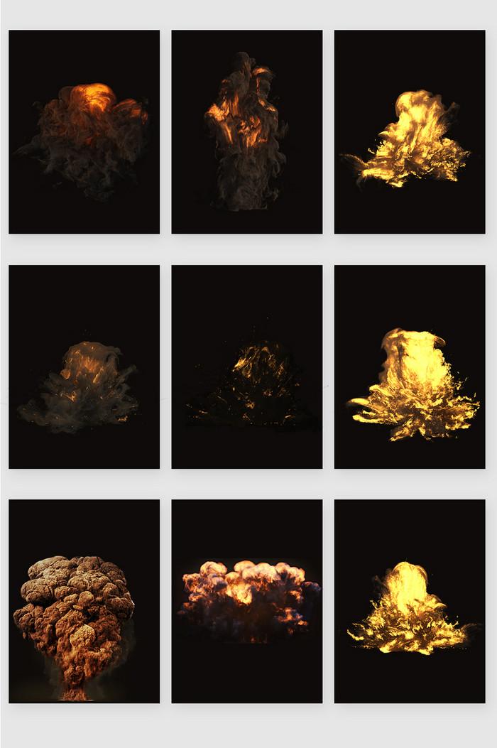 高清免抠爆炸火焰蘑菇云素材