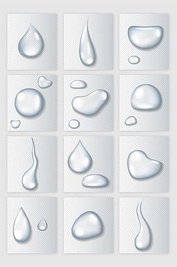 通透水滴矢量素材