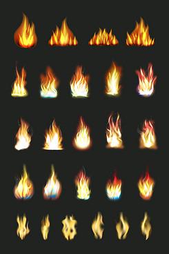 燃烧的火焰特效烈火火苗素材