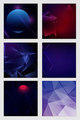 商科几何图案光效矢量素材