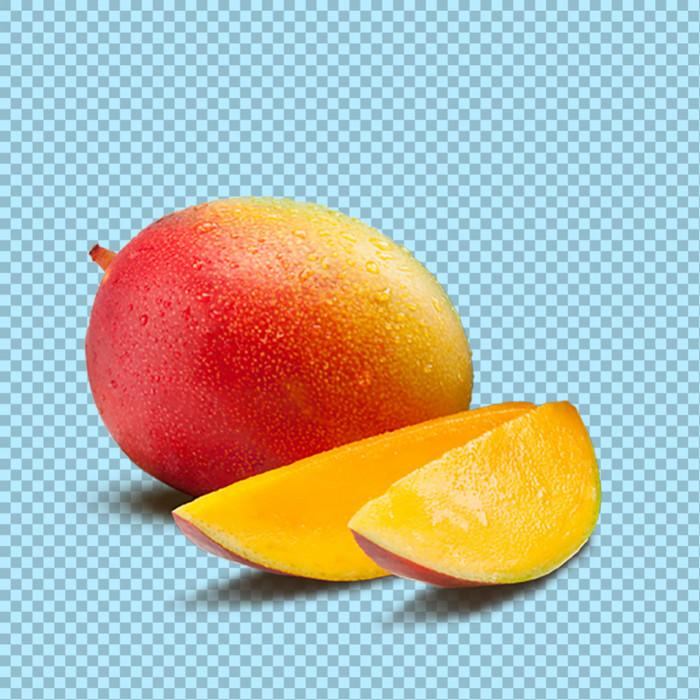 新鲜切开的芒果免抠png透明图层素材