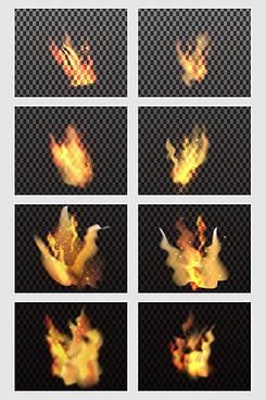 创意黄色火苗光效矢量素材