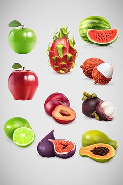 矢量仿真水果素材