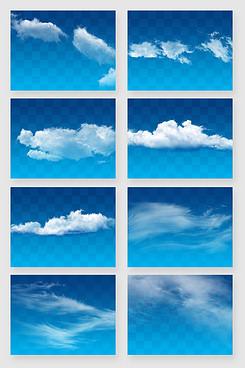 天空白色云团云朵云层素材
