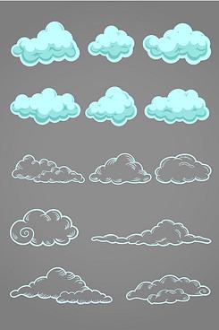 小云朵图标矢量素材