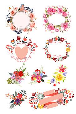 精美水彩手繪花朵矢量素材