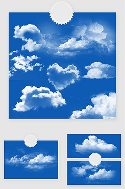 白色云朵云层天空PSD素材