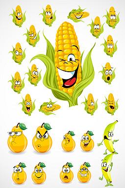 水果表情矢量图