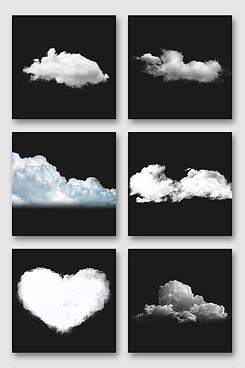 漂浮素材白云设计素材合集
