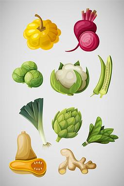 矢量手绘蔬菜素材