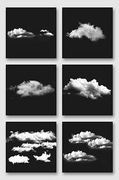 漂浮白云设计元素