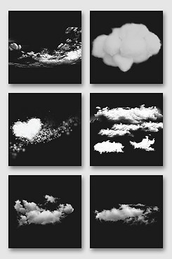 漂浮白云设计素材合集