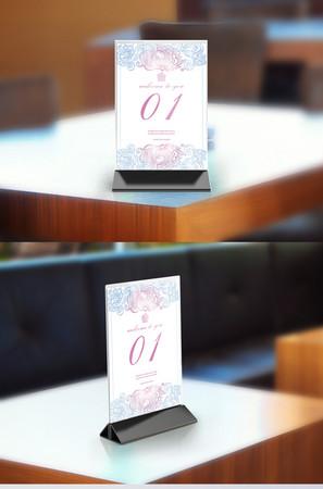 简约手绘小清新婚庆桌签