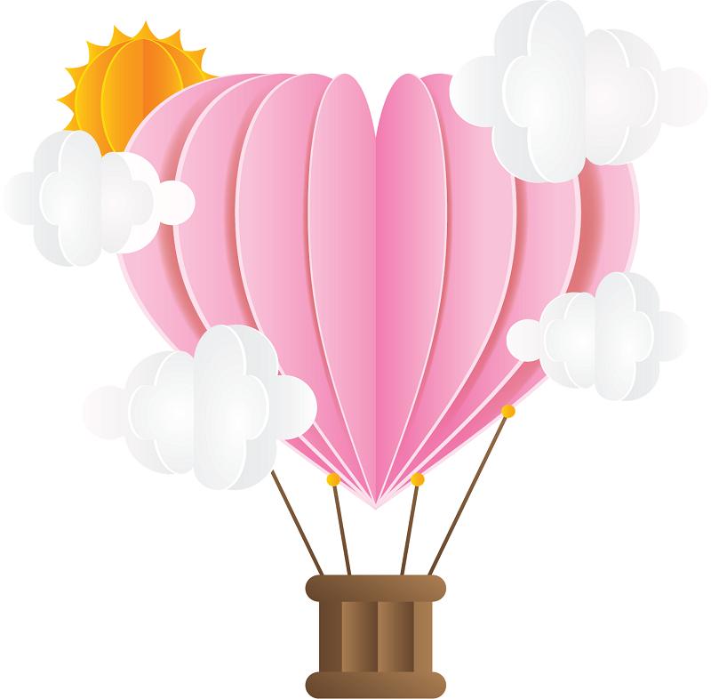 soutu123.com_4575842_粉红折纸爱心热气球_搜图123祝您工作顺利.png